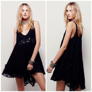 Free People I She Swings Voile Lace Tunic Dress